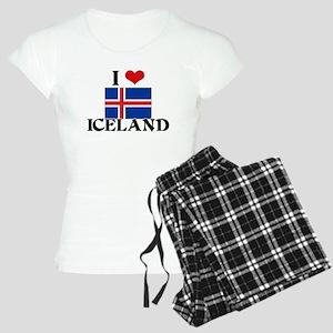 I HEART ICELAND FLAG Pajamas