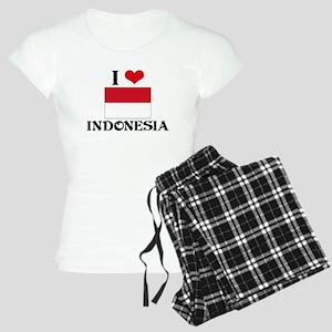 I HEART INDONESIA FLAG Pajamas