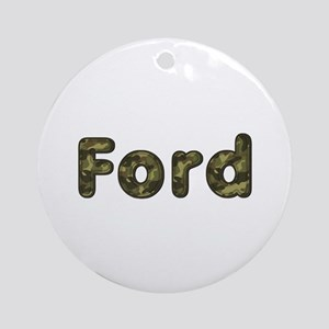 Ford Army Round Ornament