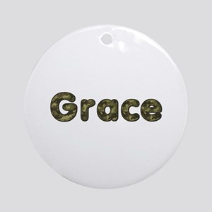 Grace Army Round Ornament