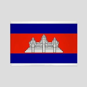 Cambodia Blank Flag Rectangle Magnet