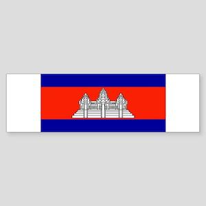 Cambodia Blank Flag Bumper Sticker