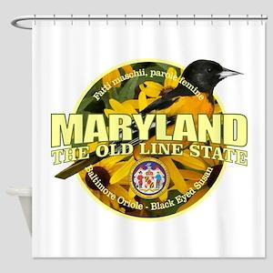 Maryland State Bird & Flower Shower Curtain