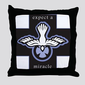 Expect a Miracle Throw Pillow
