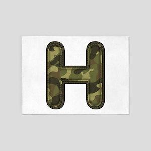 H Army 5'x7' Area Rug
