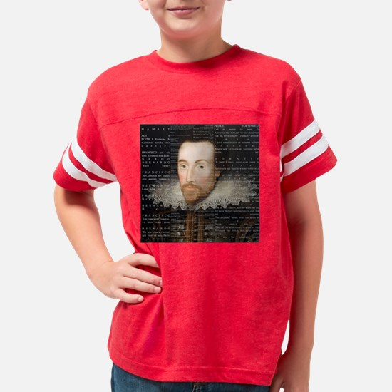 shakespeare hamlet shower cur Youth Football Shirt