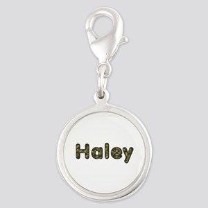 Haley Army Silver Round Charm