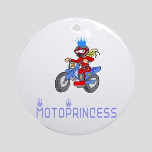 MotoChick Princess Ornament (Round)