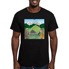 Tent Setup Men's Fitted T-Shirt (dark)