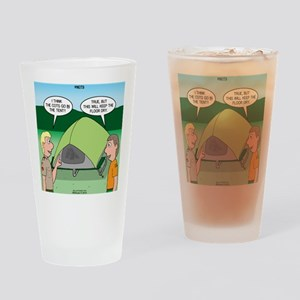 Tent Setup Drinking Glass