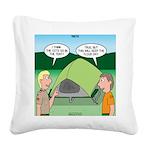 Tent Setup Square Canvas Pillow
