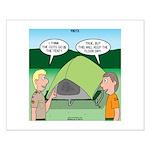 Tent Setup Small Poster