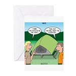 Tent Setup Greeting Cards (Pk of 10)