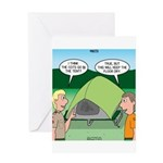 Tent Setup Greeting Card