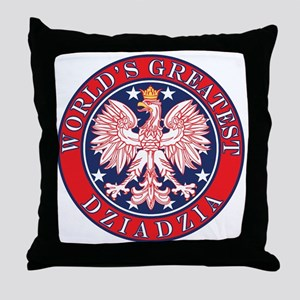 World's Greatest Dziadzia Throw Pillow