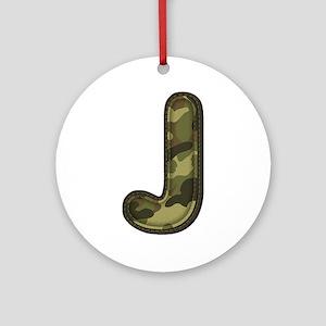 J Army Round Ornament