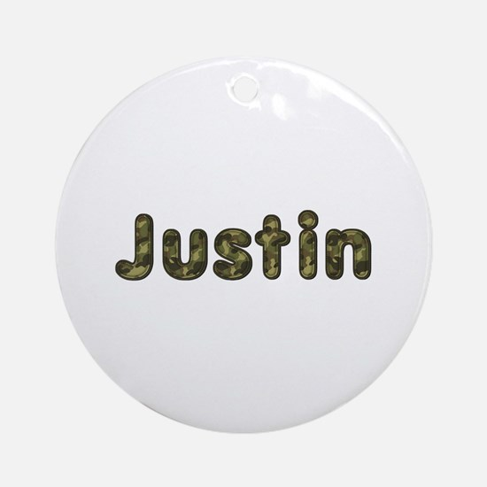 Justin Army Round Ornament