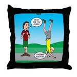 Avoid Blisters Throw Pillow