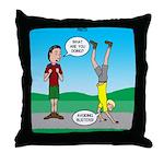 Avoid Blisters Throw Pillow