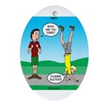 Avoid Blisters Ornament (Oval)