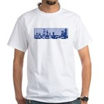 Chess Study in Blue White T-Shirt