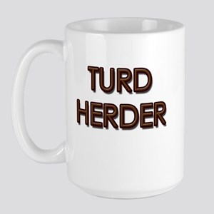 Turd Herder Large Mug