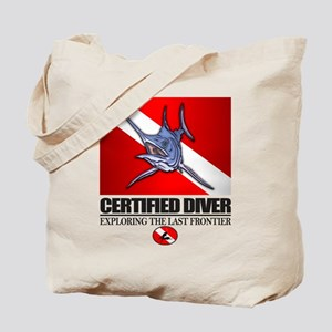 Certified Diver (Marlin) Tote Bag