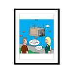 Shark Cage Framed Panel Print
