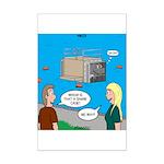 Shark Cage Mini Poster Print