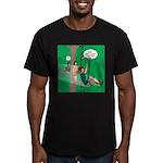 Canopy Tour Zip Line Men's Fitted T-Shirt (dark)