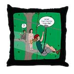 Canopy Tour Zip Line Throw Pillow