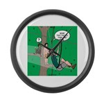 Canopy Tour Zip Line Large Wall Clock