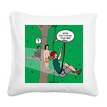 Canopy Tour Zip Line Square Canvas Pillow