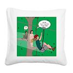 Canopy Tour Zip Line Square Canvas Pillow