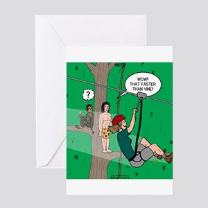 Canopy Tour Zip Line Greeting Card