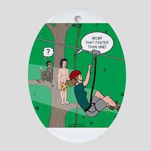 Canopy Tour Zip Line Ornament (Oval)