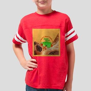 ButtonBadCaseBrainFrog Youth Football Shirt