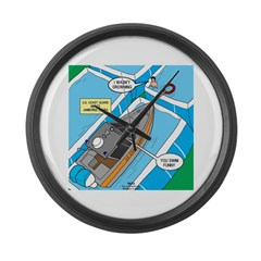 Water Rescue Large Wall Clock