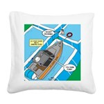 Water Rescue Square Canvas Pillow