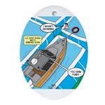 Water Rescue Ornament (Oval)