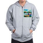 Hydrate and Dehydrate Zip Hoodie