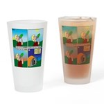 Hydrate and Dehydrate Drinking Glass