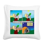 Hydrate and Dehydrate Square Canvas Pillow
