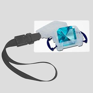 BlueGemPlasticCrate091711 Large Luggage Tag