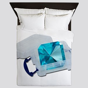 BlueGemPlasticCrate091711 Queen Duvet