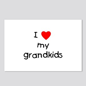 I love my grandkids Postcards (Package of 8)