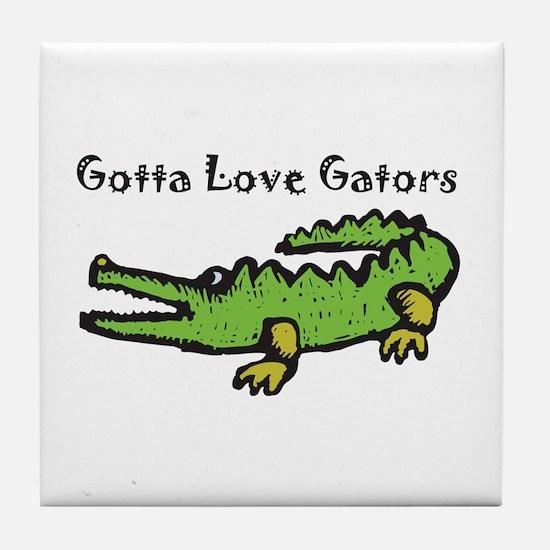 Gotta Love Gators Tile Coaster