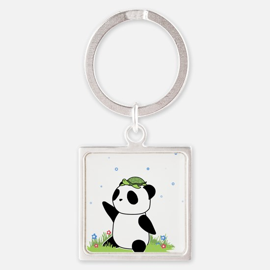 Turtle on a Panda Keychains
