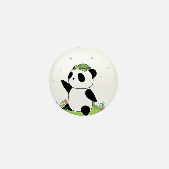Turtle on a Panda Mini Button