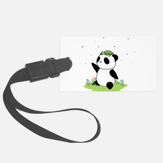 Turtle on a Panda Luggage Tag